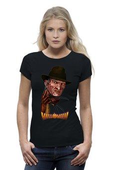 "Футболка Wearcraft Premium ""Freddy Krueger (Halloween)"" - хэллоуин, ужастик, убийца, маньяк, с ножами"