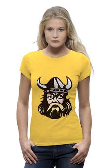 """Футболка Wearcraft Premium (Женская) """"Веселый викинг"""" - история, викинг, viking, путь воина, веселый викинг"""