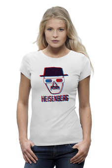 "Футболка Wearcraft Premium ""Heisenberg 3d"" - breaking bad, heisenberg, во все тяжкие, 3d"