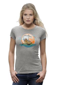 """Футболка Wearcraft Premium """"Old Ship woman"""" - футболка женская, выделись из толпы"""