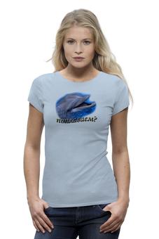 """Футболка Wearcraft Premium """"Дельфин"""" - стиль, прикольные, оригинально"""