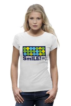 """Футболка Wearcraft Premium """"smile!"""" - прикольно, smile, прикольные, футболка женская"""