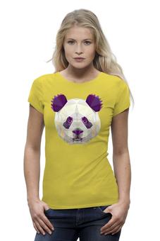 """Футболка Wearcraft Premium (Женская) """"Полигональная панда"""" - арт, животные, панда, дизайн, абстракция"""
