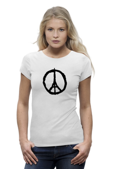 "Футболка Wearcraft Premium (Женская) ""Париж Франция"" - франция, париж, мир парижу, pray for paris"