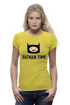 "Футболка Wearcraft Premium ""Batman time"" - batman, adventure time, время приключений, adventure, finn"