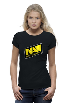 "Футболка Wearcraft Premium ""Natus Vincere Logo (Black)"" - игры, dota, dota 2, navi, natus vincere, дота, edward, киберспорт, dendi, markeloff"