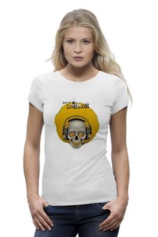 """Футболка Wearcraft Premium """"череп в паушниках"""" - череп, лондон, яркая"""