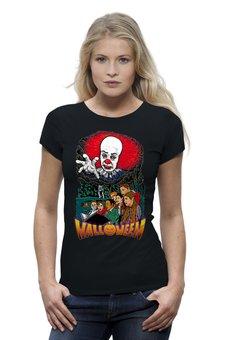"Футболка Wearcraft Premium ""Pennywise (Halloween)"" - хэллоуин, ужастик, клоун, убийца, пеннивайз"