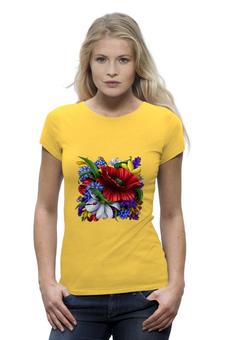 """Футболка Wearcraft Premium """"Цветы"""" - цветы"""