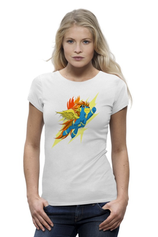 "Футболка Wearcraft Premium (Женская) ""My Little Pony - Спитфайр"" - арт, футболка, женская, рисунок, pony, mlp, пони, девушке, динамично, spitfire"
