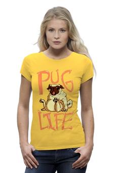 """Футболка Wearcraft Premium (Женская) """"Pug life """" - бульдог"""
