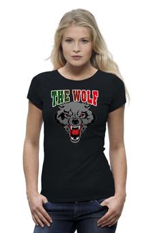 """Футболка Wearcraft Premium """"THE WOLF"""" - авторские майки, футболка, животные, стиль, популярные, рисунок, прикольные, в подарок, оригинально, девушке"""