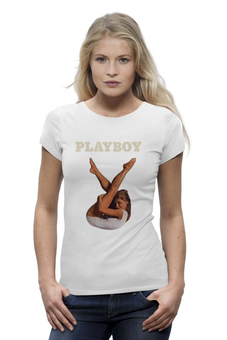 "Футболка Wearcraft Premium ""Playboy Девушка"" - девушка, playboy, плейбой, плэйбой"