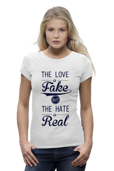 "Футболка Wearcraft Premium ""The Love - Любовь"" - любовь, fake"