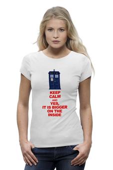 "Футболка Wearcraft Premium ""Футболка женская KEEP CALM"" - doctor who, tardis, keep calm, доктор кто, cult of skaro"