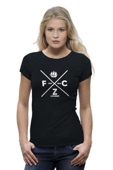"Футболка Wearcraft Premium (Женская) ""FC Zenit by Design Minsitry"" - зенит, футбол, питер, zenit, designministry"