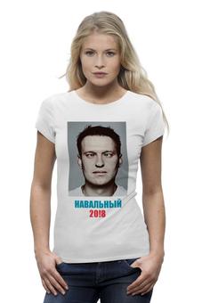 """Футболка Wearcraft Premium """"Навальный 2018 с портретом"""" - навальный, команда навального, 2018, navalny, my-navalny"""