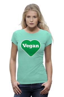 """Футболка Wearcraft Premium (Женская) """"Веган"""" - vegan"""