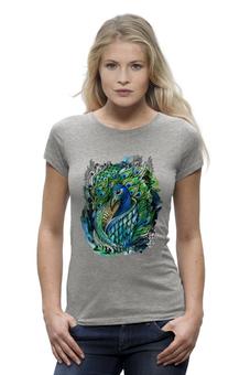 """Футболка Wearcraft Premium """"Peacock"""" - арт, птица, рисунок, птицы, яркий, хвост, bird, перо, павлин, перья"""