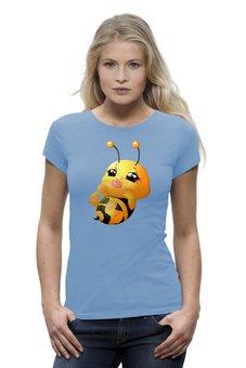 """Футболка Wearcraft Premium """"Пчелка """" - природа, пчела, мед"""