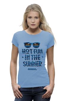 "Футболка Wearcraft Premium (Женская) ""Summer "" - жара, отпуск, лео"