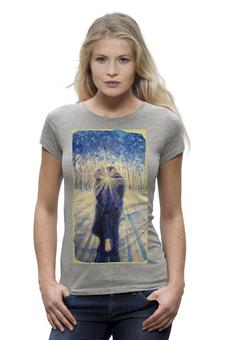 """Футболка Wearcraft Premium """"Рассвет любви"""" - любовь, арт, девушка, авторские майки, женская, в подарок, футболка женская"""