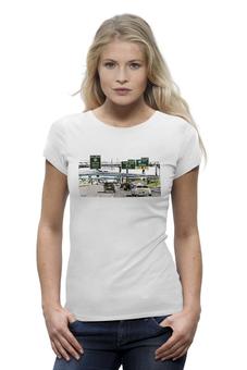 """Футболка Wearcraft Premium """"Американский хайвей"""" - сша, путешествия, шоссе, дороги, хайвеи"""