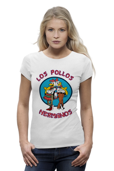"Футболка Wearcraft Premium ""Los Pollos Hermanos"" - во все тяжкие, breaking bad, los pollos hermanos, братья цыплята"