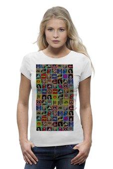 """Футболка Wearcraft Premium """"Pop-art"""" - арт, стиль, оригинально, футболка женская"""