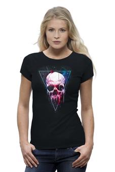 """Футболка Wearcraft Premium """"Вселенная"""" - skull, череп, космос, абстракция, вселенная"""
