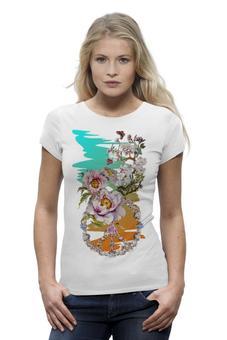 """Футболка Wearcraft Premium """"Цветочная фантазия."""" - цветы, весна, коллаж, peace, цветочное"""