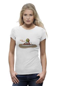 "Футболка Wearcraft Premium ""Алкаш"" - арт, юмор, авторские майки, футболка, женская, прикольные, футболка женская"