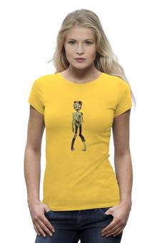 """Футболка Wearcraft Premium """"Zombie girl (зомби)"""" - zombie, зомби, девушка, хэллуин, скелет"""