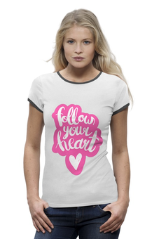 "Футболка Wearcraft Premium ""follow your heart"" - сердце, любовь, heart, день святого валентина, loves"