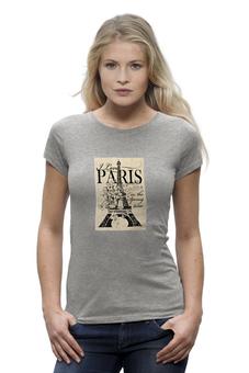 """Футболка Wearcraft Premium """"Париж"""" - париж, paris, эйфелва баня"""