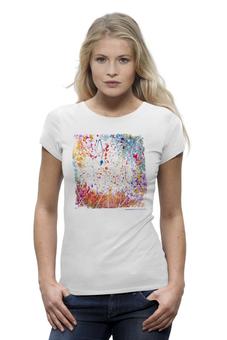"""Футболка Wearcraft Premium """"Inspiration number 1"""" - арт, лето, краски, футболка женская, вдохновение, авторский принт, kosa"""