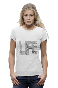 """Футболка Wearcraft Premium """"life жизнь"""" - life, лайф"""