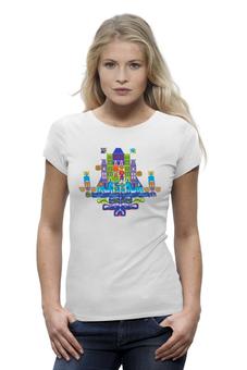 "Футболка Wearcraft Premium ""Замок"" - авторские майки, в подарок, футболка женская, креативно"