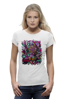 """Футболка Wearcraft Premium """"Одуванчик"""" - арт, крылья, цветы, птицы, графика, облака, природа, растения, иллюстрация, одуванчик"""