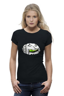 "Футболка Wearcraft Premium ""Комар"" - комар, спит, комната, боится, зеленый"