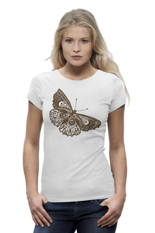 "Футболка Wearcraft Premium ""Butterfly"" - бабочка, девушке, butterfly"
