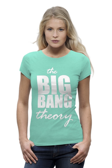 "Футболка Wearcraft Premium (Женская) ""The Big Bang Theory"" - the big bang theory, bazinga, сериал, теория большого взрыва, шелдон купер, sheldon cooper"