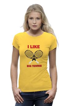 """Футболка Wearcraft Premium """"I like big tennis"""" - big"""