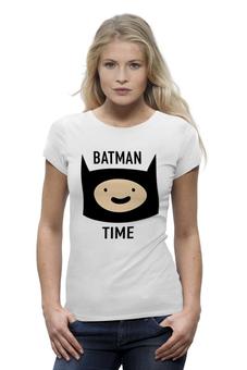 """Футболка Wearcraft Premium (Женская) """"Batman time"""" - batman, adventure time, время приключений, финн"""