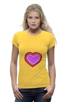 """Футболка Wearcraft Premium """"Цветочное сердце"""" - сердце, любовь, арт, цветы, рисунок"""