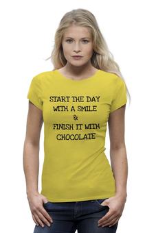 """Футболка Wearcraft Premium """"Smile and Chocolate"""" - позитив, smile, настроение, шоколад"""