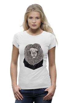 """Футболка Wearcraft Premium """"Mr. Lion"""" - арт, девушка, авторские майки, футболка, женская, в подарок, оригинально, футболка женская"""