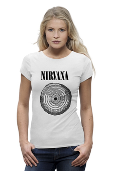 "Футболка Wearcraft Premium (Женская) ""Nirvana "" - nirvana, рок, kurt cobain, курт кобейн, нирвана"