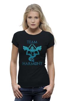 """Футболка Wearcraft Premium (Женская) """"Team harmony"""" - pokemon go, team harmony"""
