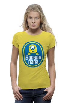 "Футболка Wearcraft Premium (Женская) ""Banana Minion"" - banana, миньоны, банан, гадкий я, minion"